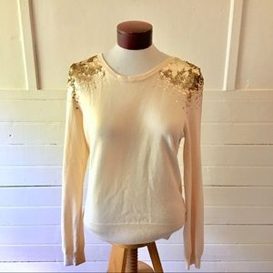 NWT H&M Sweater with Sequined Shoulders